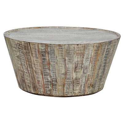 """Harbor Barrell Coffee Table - 38"""" D - Wayfair"""