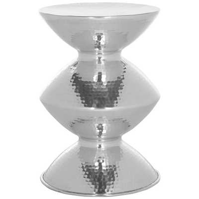 Safavieh Guildsman Silver Metal Table Stool - Overstock