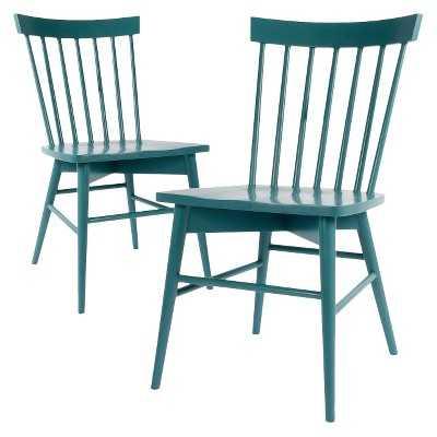 Windsor Dining Chair Wood (Set of 2) - Teal - Target