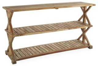 "Sandro 59"" Outdoor Teak Console, Natural - One Kings Lane"