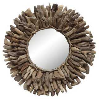 Driftwood Wall Mirror, Natural - One Kings Lane