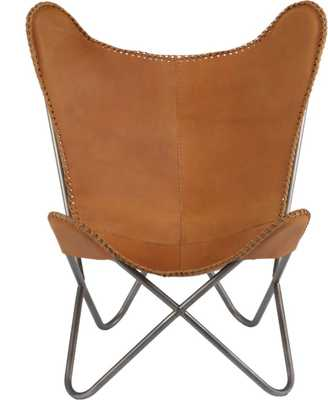 1938 tobacco leather butterfly chair - Domino