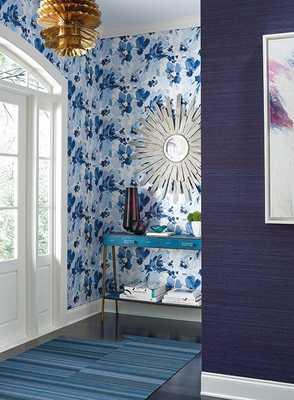 AQUARELLA WALLPAPER IN BLUE AND WHITE - Burke Decor