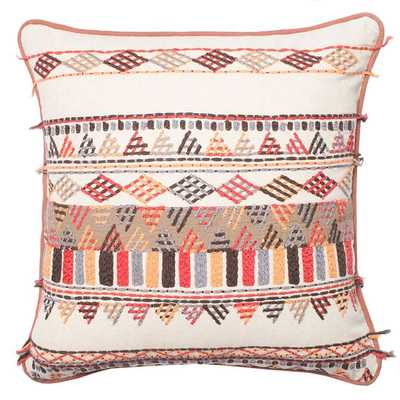 Solid Texture Pillow - 22x22 - With Insert - Domino