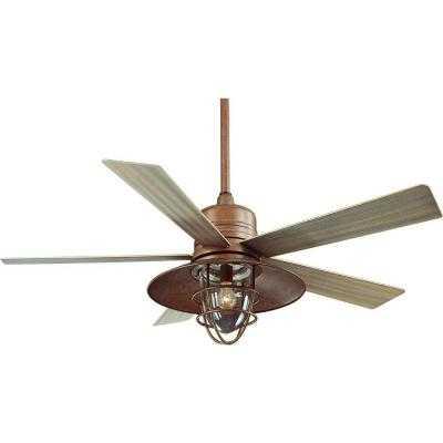 Metro 54 in. Rustic Copper Indoor/Outdoor Ceiling Fan - Home Depot