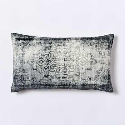 Velvet Arabesque Pillow Cover - 12x21, Insert Sold Separately - West Elm
