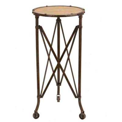 Metal and Wood Accent End Table - Wayfair