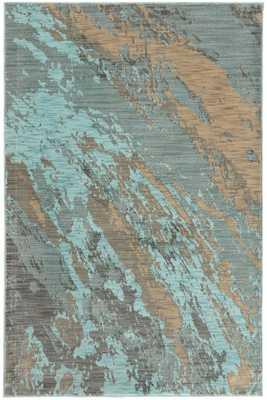 "JAVA AREA RUG - 6'7""x9'6""-Light Blue - Home Decorators"