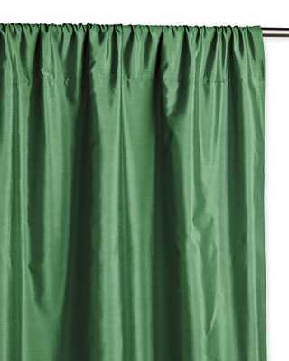 "Silk Shantung Window Panel - 50"" x 108"" - Malachite - Serena and Lily"