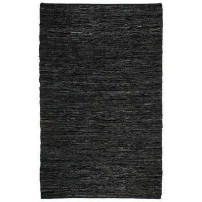 Hand Woven Matador Black Leather Rug (10' x 14') - Overstock