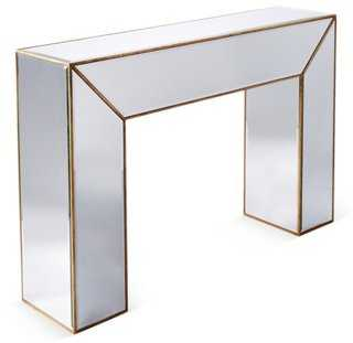 Charlotte Mirrored Console Table, Gold - One Kings Lane