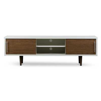 Gemini Wood Contemporary TV Stand - Overstock