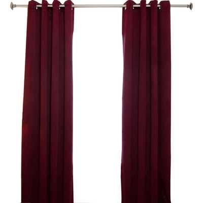 """Blackout Antique Brass Grommet Top Curtain Panel (Set of 2)- 96"""" L x 52"""" W - Wayfair"""