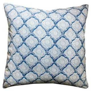 Mina 20x20 Cotton Pillow - One Kings Lane