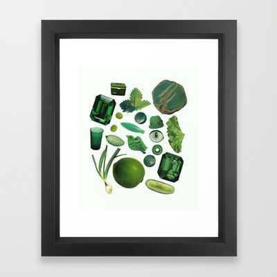 GREEN - Framed - Society6