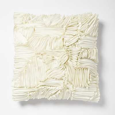 Ruffle Ribbon Pillow Cover - West Elm