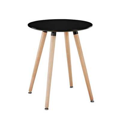 Tempera Circular Side Table in Black - Domino