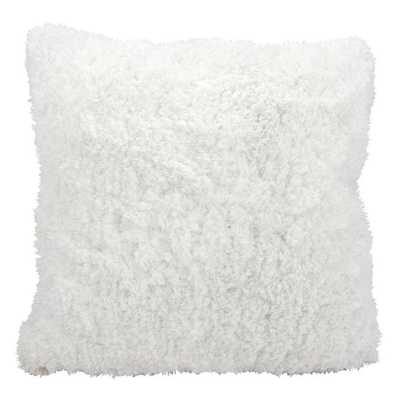 Mina Victory by Nourison White Shag 22-inch Throw Pillow - Overstock
