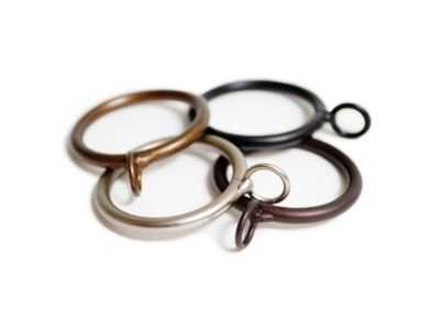 Simple Drapery Rings - Set of 10 - Copper - Loom Decor