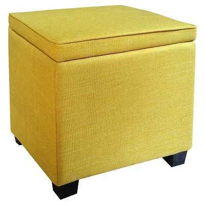 Storage Ottoman with Feet - Yellow - Target