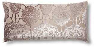 Lace Velvet Pillow - One Kings Lane