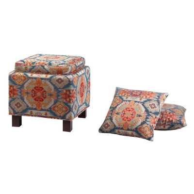 Madison Park Shelley Square Storage Ottoman - Wayfair