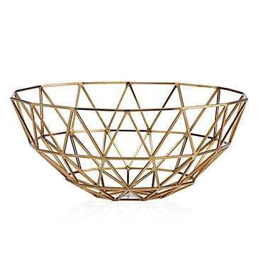 Hexadome Bowl - Gold - Z Gallerie