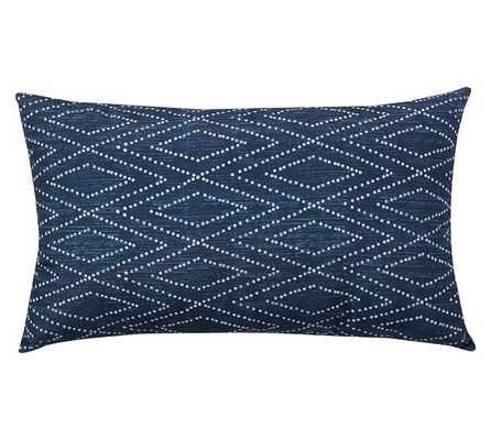 "LYCIAN IKAT INDOOR/OUTDOOR PILLOW - Blue - 16"" x 26"" - Insert included - Pottery Barn"