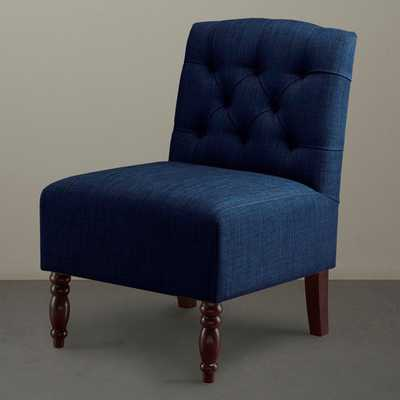Lola Tufted Armless Chair - Overstock