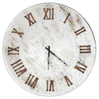 Left Bank Wall Clock, Silver/Gold Leaf - One Kings Lane