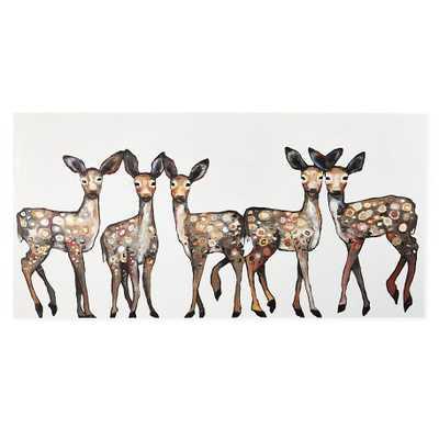 """Oh Deer Canvas Wall Art, 36""""W x 1.5""""D x 18""""H- unframed- no mat - Land of Nod"""