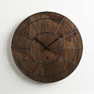 cage wall clock - CB2