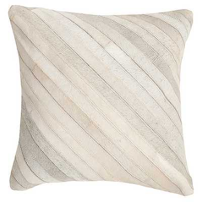 "Whitchurch Feather Throw Pillow - White - 22"" Square - Feather insert - AllModern"