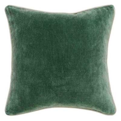 "Heirloom Velvet Pillow, Pine-	18"" x 18""-ni insert - High Fashion Home"