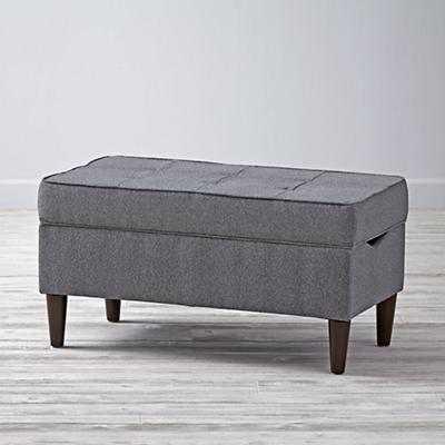 Tufted Upholstered Storage Bench - Land of Nod