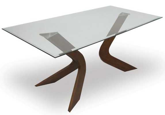 Mulberry Sculpted Dining Table WALNUT - Apt2B