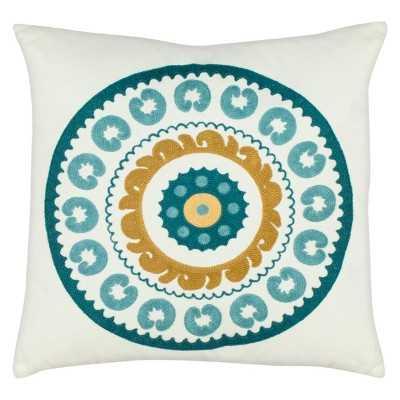 """Safavieh Medallion Toss Pillow, Blue  - 18''x 18"""" - Polyester fill - Target"""
