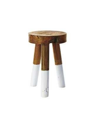 DipDyed Stools - Small - White - Serena and Lily
