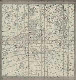 "Astrological Star Map No. 3, C. 1900 15"" x 15"" framed - One Kings Lane"