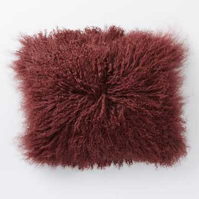 """Mongolian Lamb Pillow Cover - 12"""" x 16"""" - Insert Sold Separately - West Elm"""