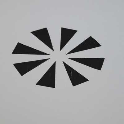 triangle wall decor , unframed - Etsy