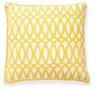 Geo 22x22 Cotton Pillow - One Kings Lane