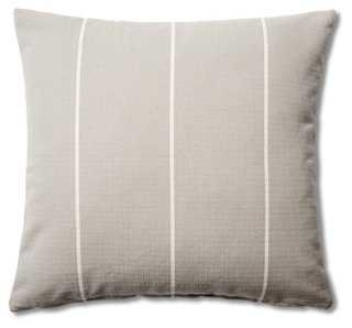 Stripe 20x20 Cotton Pillow, Gray - One Kings Lane