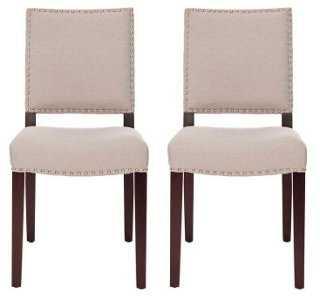 Beige James Side Chairs, Pair - One Kings Lane
