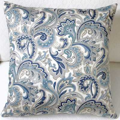 """20"""" Montero Lustrous Paisley Accent Throw Pillow Cover - Insert is not included - Overstock"""
