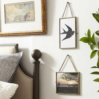 "Kieran Hanging Brass Frame-5'3""x7"" - Wayfair"