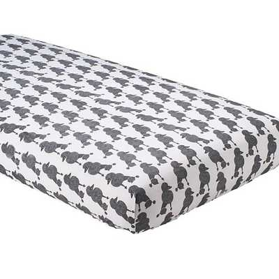 Poodle Party Fitted Crib Sheet - Land of Nod