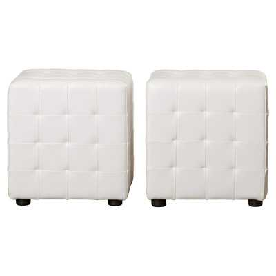 Kinton Cube Ottoman set of 2 - Wayfair