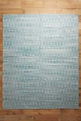 Stitched Pyramid Rug - Teal, 8x10 - Anthropologie