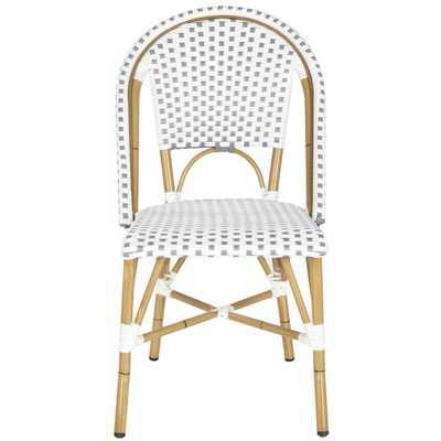Salcha Stacking Dining Chair (Set of 2) - Grey/White - Wayfair
